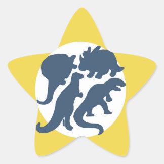 dino four star sticker