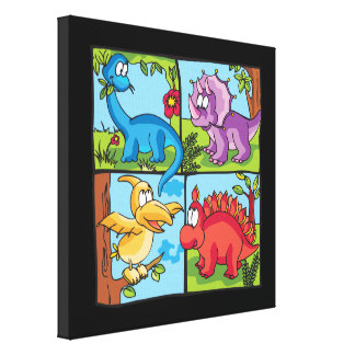 Dino Friends Canvas Print