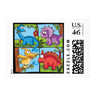 Dino Friends Stamps