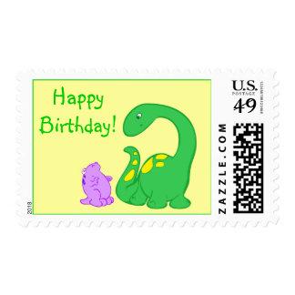 Dino Friends Postage Stamp