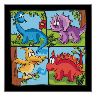 Dino Friends Poster