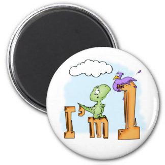 Dino Fun 1st Birthday Magnet
