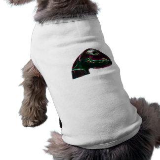 Dino Head Abstract Neon Doggie T-shirt