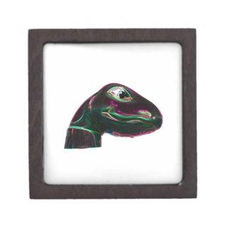 Dino Head Abstract Neon Gift Box
