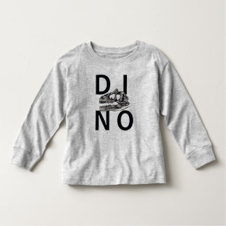 DINO - Heather Grey Toddler Long Sleeve T-Shirt