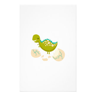 DINO JUST HATCHED PERSONALIZED STATIONERY