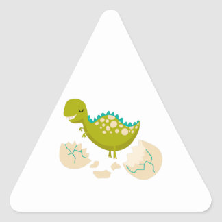 DINO JUST HATCHED TRIANGLE STICKER