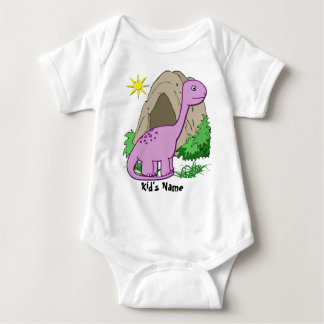 Dino la enredadera infantil del niño lindo del body para bebé