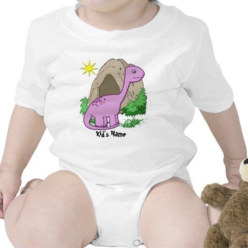 Dino la enredadera infantil del niño lindo del din traje de bebé