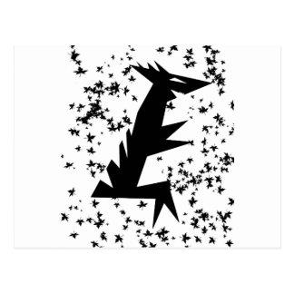 Dino Leaves Postkarte