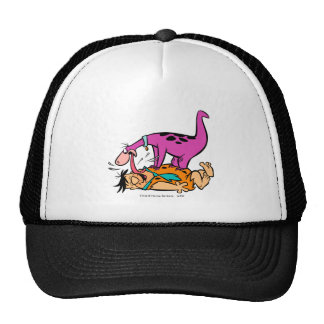 Dino Licking Fred Flintstone Trucker Hat