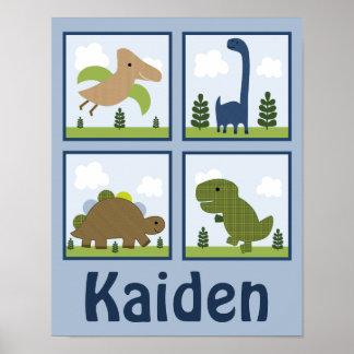 Dino/los dinosaurios adorables personalizó el post impresiones