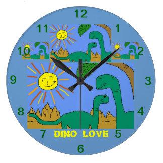 DINO LOVE - I LOVE DINOSAURS Clock