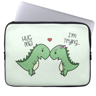Dino Love Laptop Sleeve! Computer Sleeve