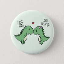Dino Love Pins! Pinback Button