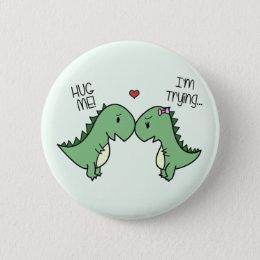 Dino Love Pins! Pinback Button