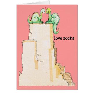 Dino Love Rocks Greeting Card