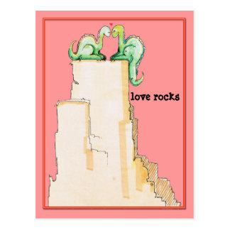 Dino Love Rocks Postcard