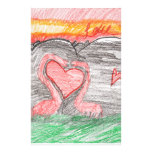 Dino Love Stationery Design
