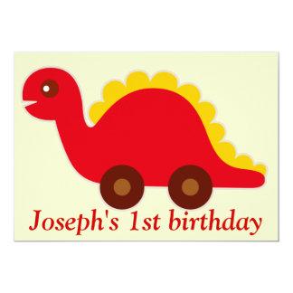 Dino-mite Birthday invite- personalize Card