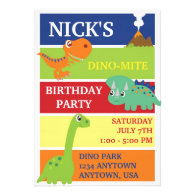 DINO-MITE DINOSAUR BIRTHDAY PARTY INVITATION