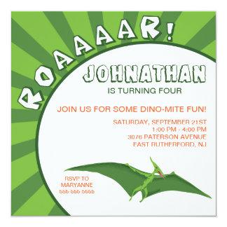 Dino-Mite Dinosaur Invitation - Green