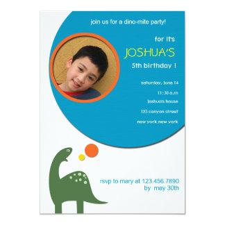 Dino-mite party -kids birthday party card