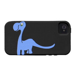 Dino Night 2 - Blue Dinosaur iPhone Case iPhone 4/4S Covers