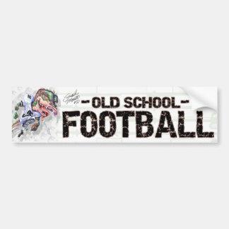 Dino Old School Football Bumpersticker Car Bumper Sticker