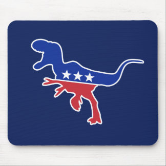 Dino Party Logo Mouse Pads