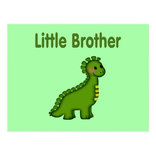 Dino pequeño Brother Tarjeta Postal