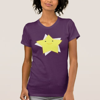 Dino Pictures Twinkle T-Shirt- Womens - Aubergine Tees