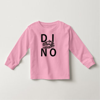 DINO - Pink Toddler Long Sleeve T-Shirt