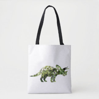 Dino Plants Photo Collage Tote Bag