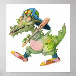 Dino Play Baseball Posters