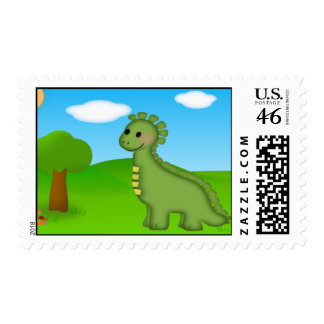 Dino Postage Stamp