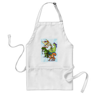dino power rawr we will not be found adult apron