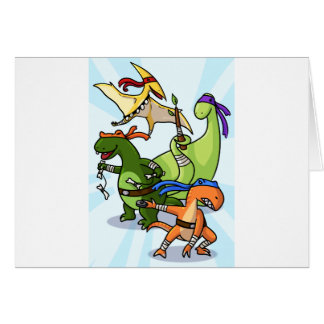 dino power rawr we will not be found greeting card