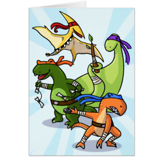 dino power rawr we will not be found card