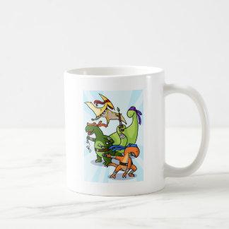 dino power rawr we will not be found coffee mug