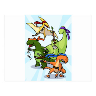dino power rawr we will not be found postcard