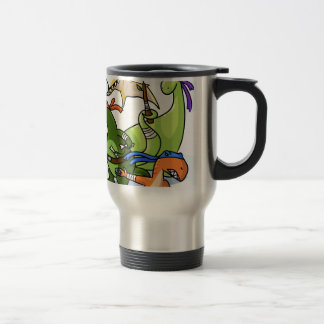 dino power rawr we will not be found travel mug