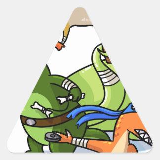 dino power rawr we will not be found triangle sticker