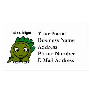 Dino pudo poner verde el dibujo animado del tarjetas de visita