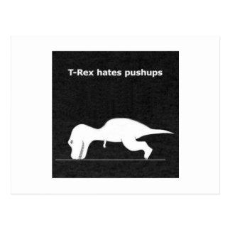 Dino push ups post card