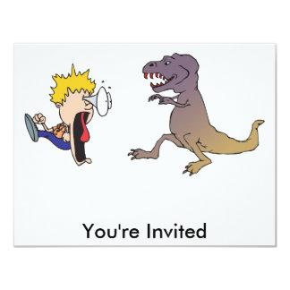 Dino Rampage 4.25x5.5 Paper Invitation Card
