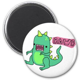 Dino Rawr 2 Inch Round Magnet
