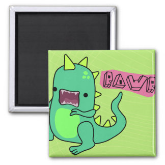 Dino Rawr 2 Inch Square Magnet