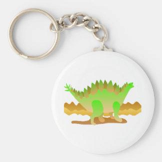 Dino Rawr Basic Round Button Keychain