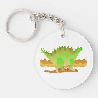 Dino Rawr Double-Sided Round Acrylic Keychain